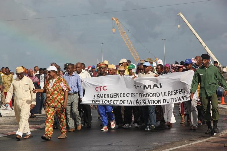 Défilé de la fête du travail à Moroni, La CTC exige le respect des droits des travailleurs